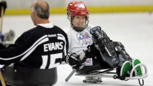 Woman Sled Hockey